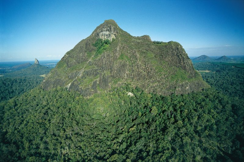 Mountain (a volcanic plug) rising above forest