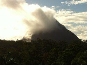 Clouds over Mt. Beerwah