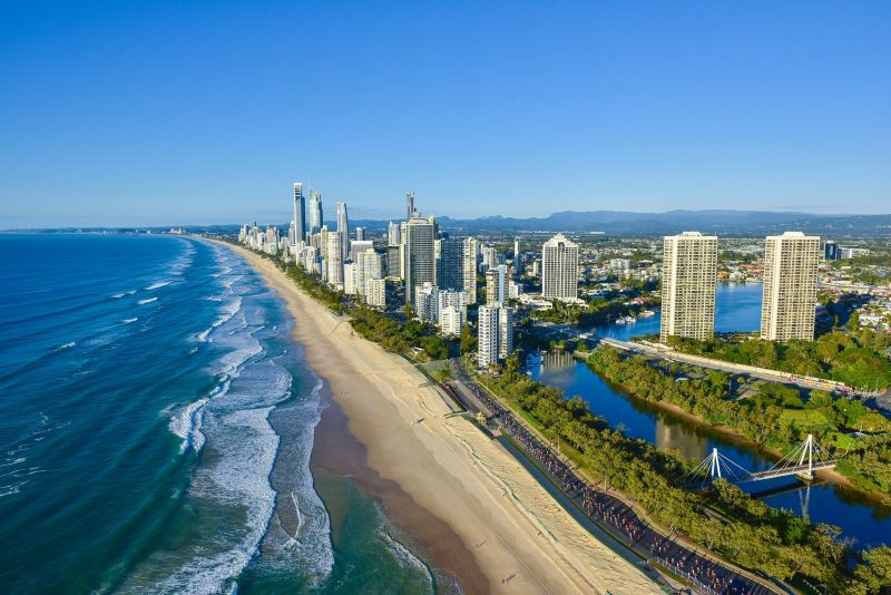 Gold Coast Marathon runners pass Narrowneck