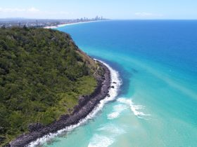 Burleigh Heads National Park looking north to Surfers Paradise