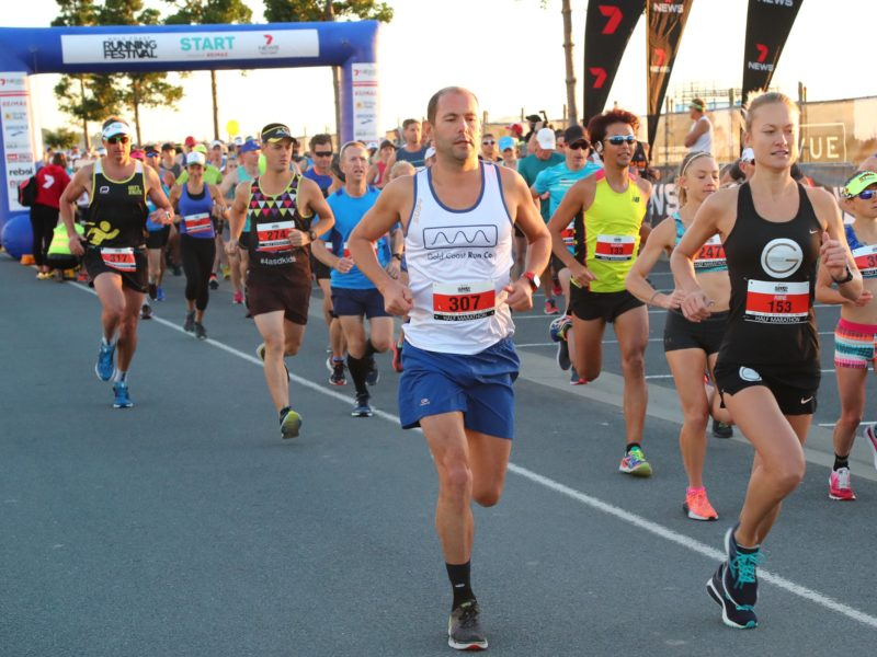 Runners at the start of the event