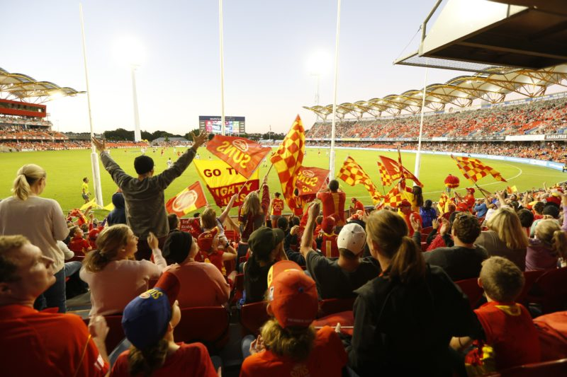 SUNS at Metricon Stadium