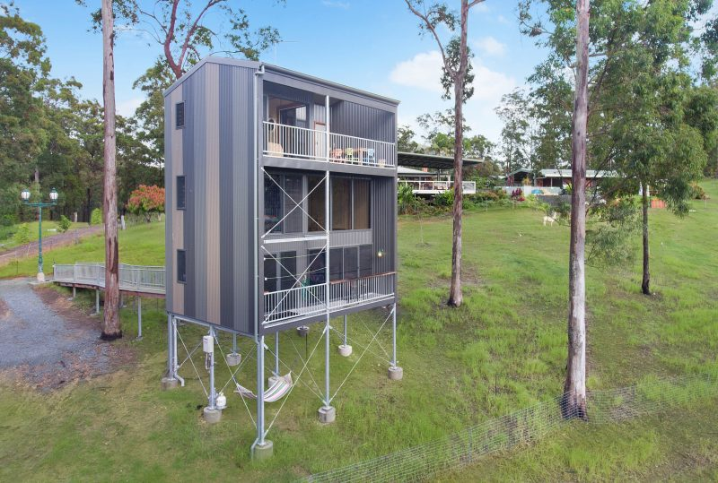 Perched high amongst the gumtrees with the best view of the Gold Coast City,of the treehouses