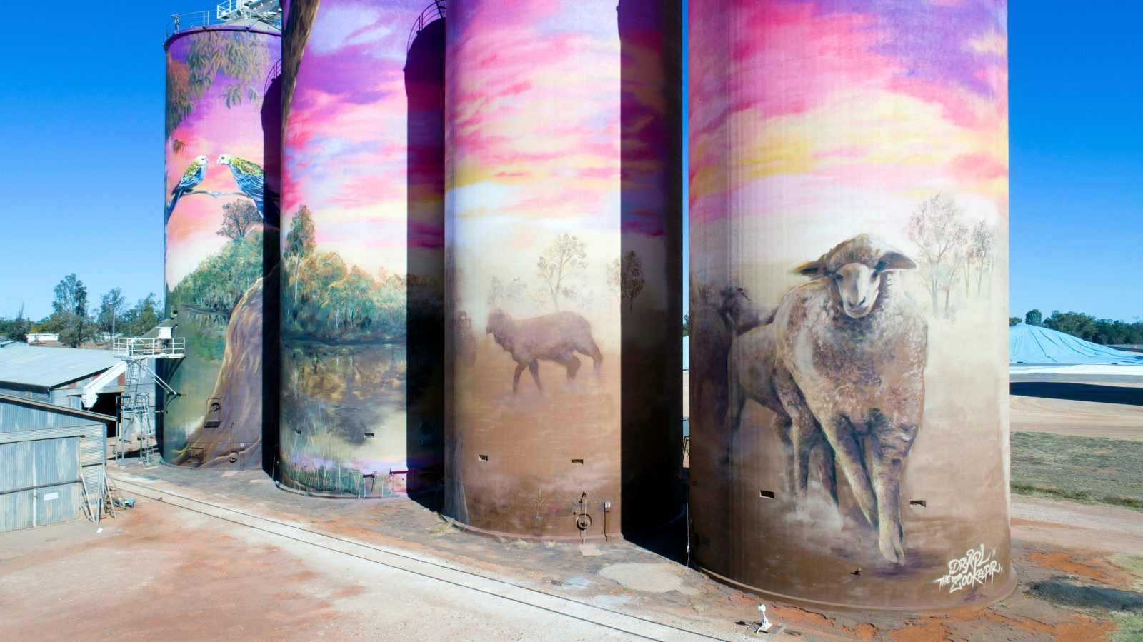 GrainCorp Thallon Silo Art