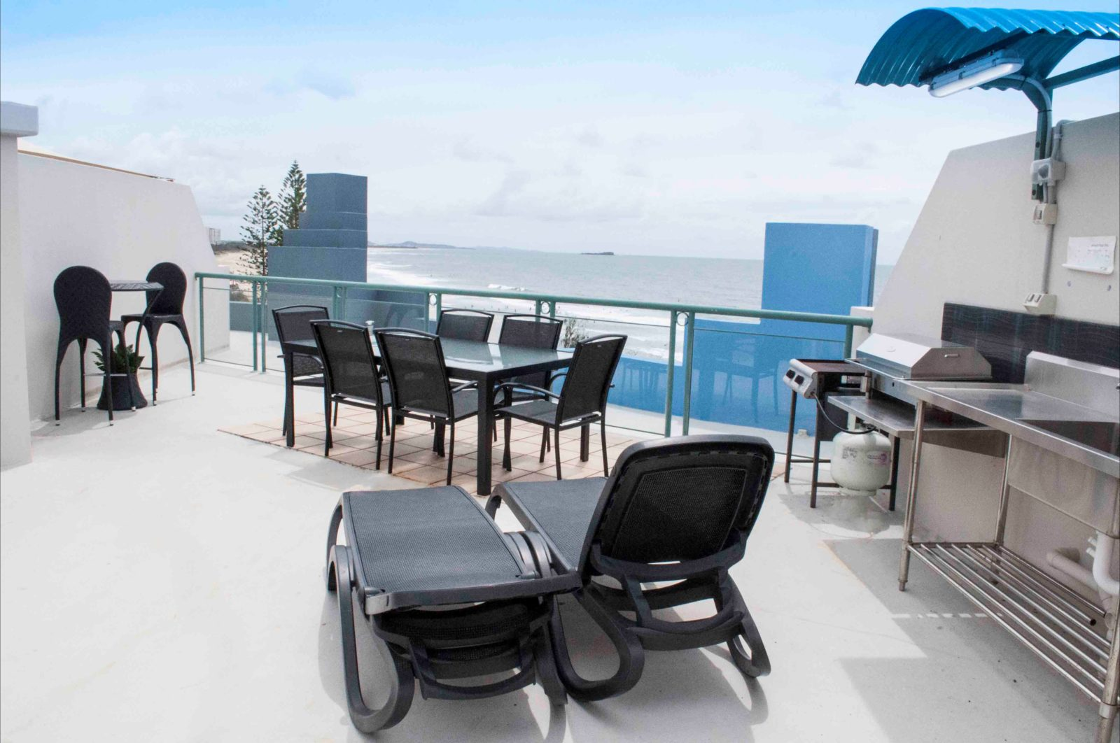 private rooftop terrace with amazing views