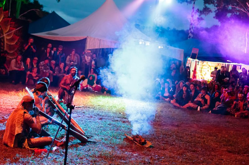 The River People bless the land we dance on with their inspiring Indigenous ceremony