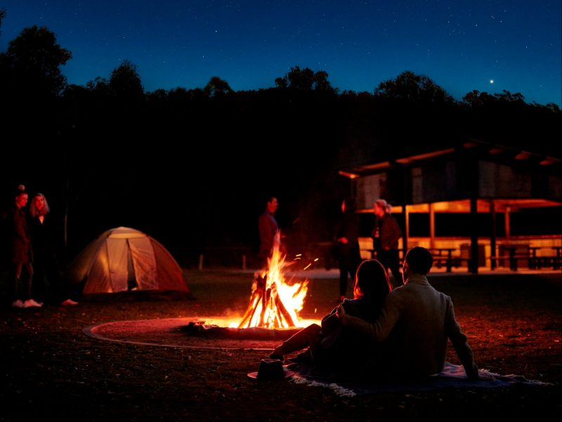 Hardings Paddock Campground - Fire Pit