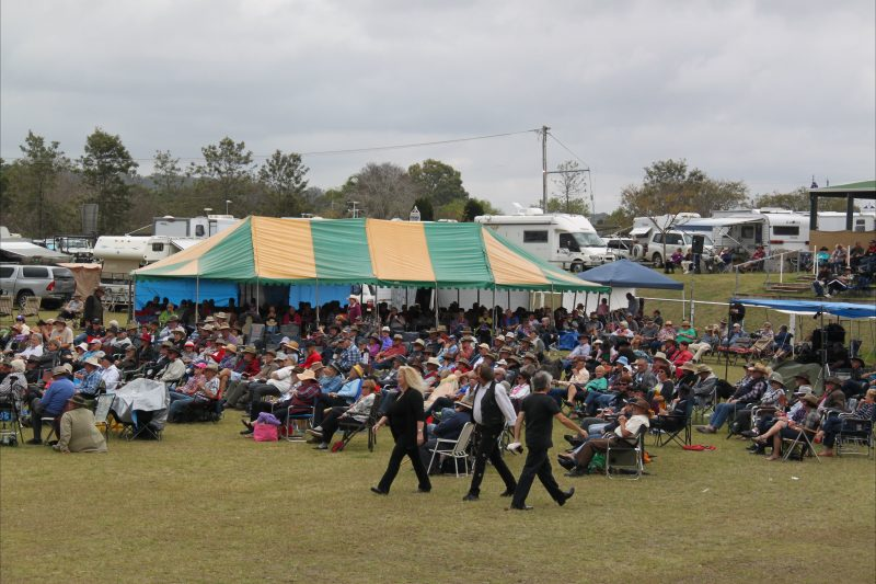 Some of the crowd at the 2016 Muster