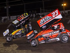 Action on the Track at Hi-Tec Oils Toowoomba Speedway