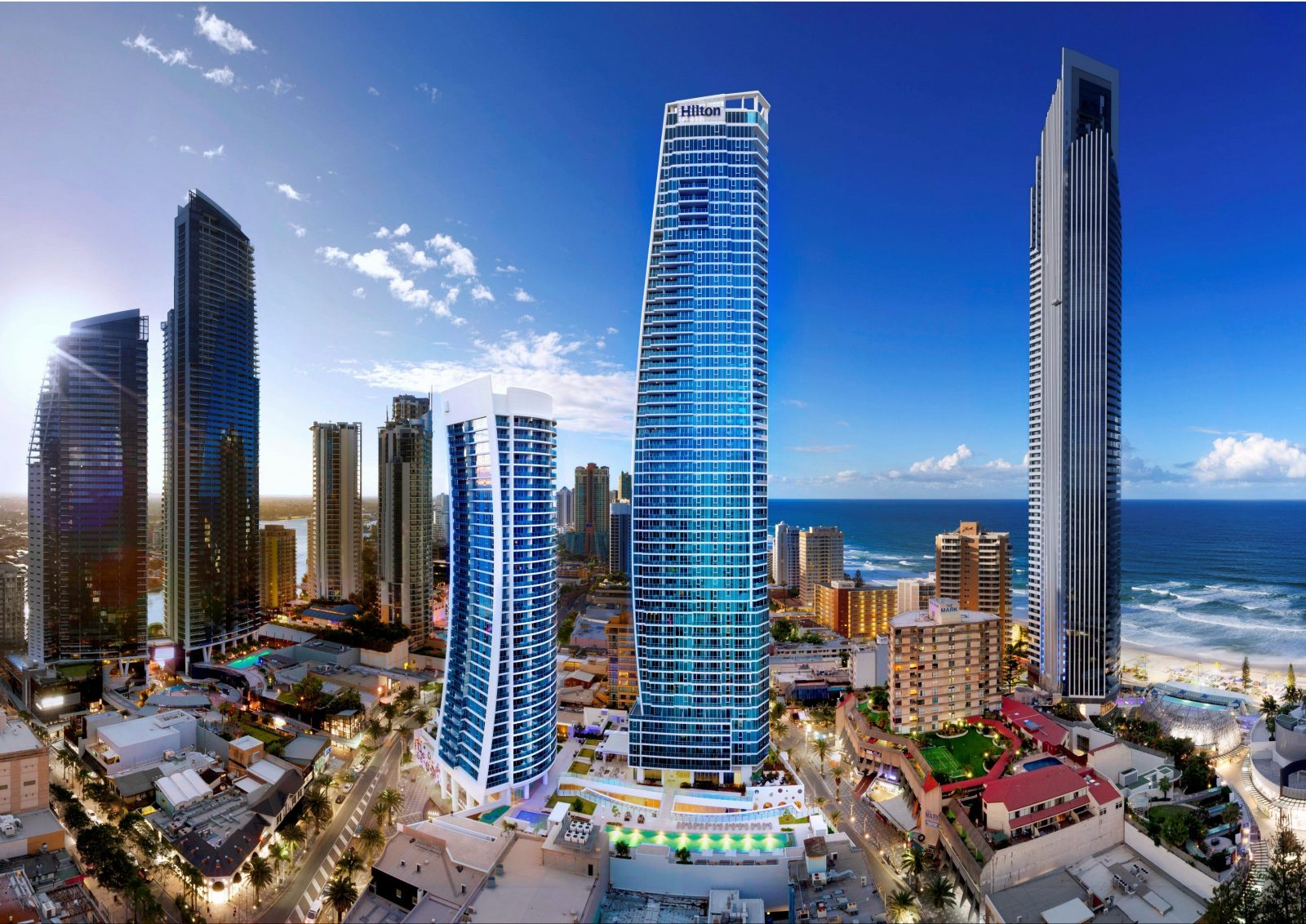Hilton Surfers Paradise hotel and residences on Queensland's Gold Coast