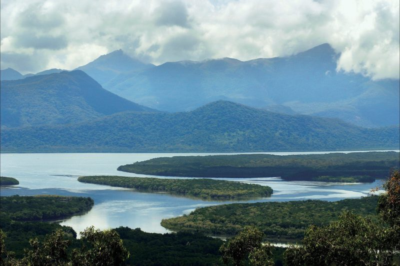 View from mainland across the Hinchinbrook Channel to the island.