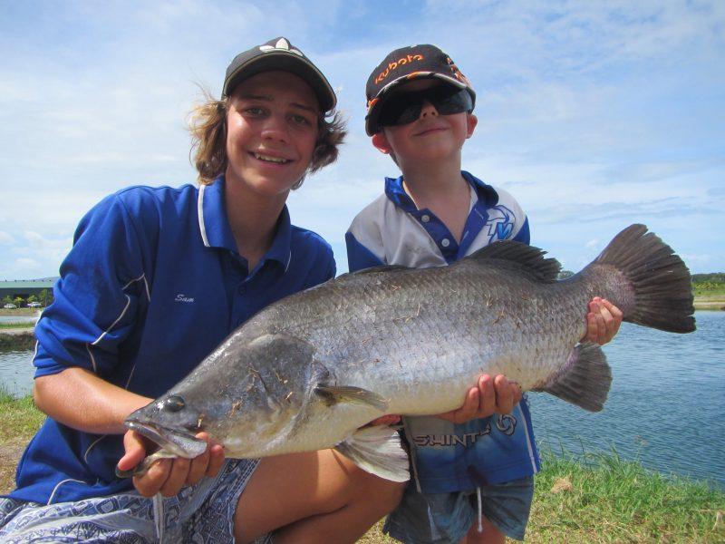 Barramundi fishing fun with the family