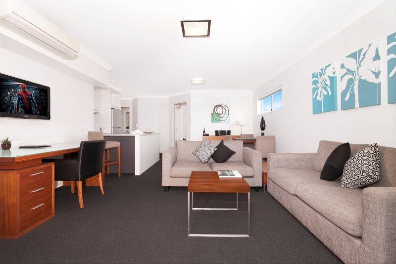 Pleanty of space to relax in the one bedroom apartment