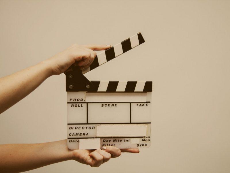 a video clapboard