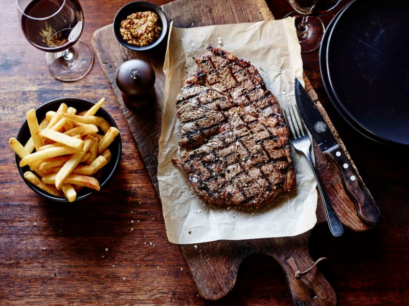 Hurricane's Rump Steak with Chips