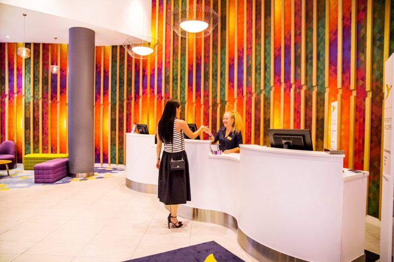 ibis Styles Brisbane vibrant Reception Desk
