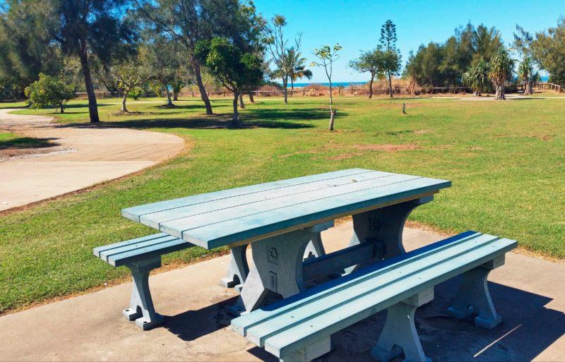 picnic table beach