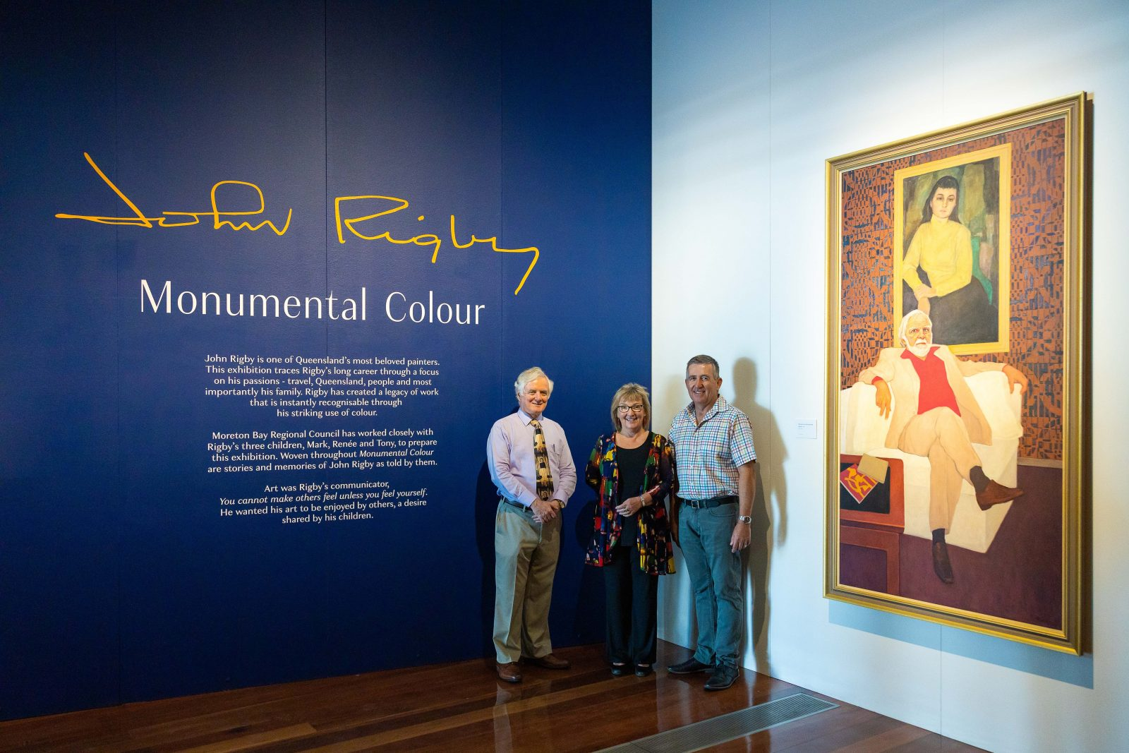 John Rigby's children at 'Monumental colour' exhibition opening