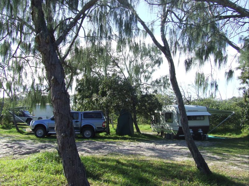 Beachside camping at INskip