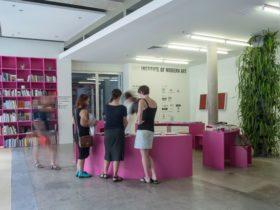 Institute of Modern Art foyer and bookshop