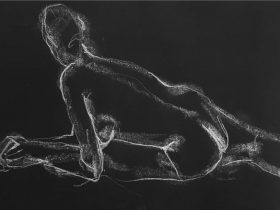 Life Drawing sketch of person