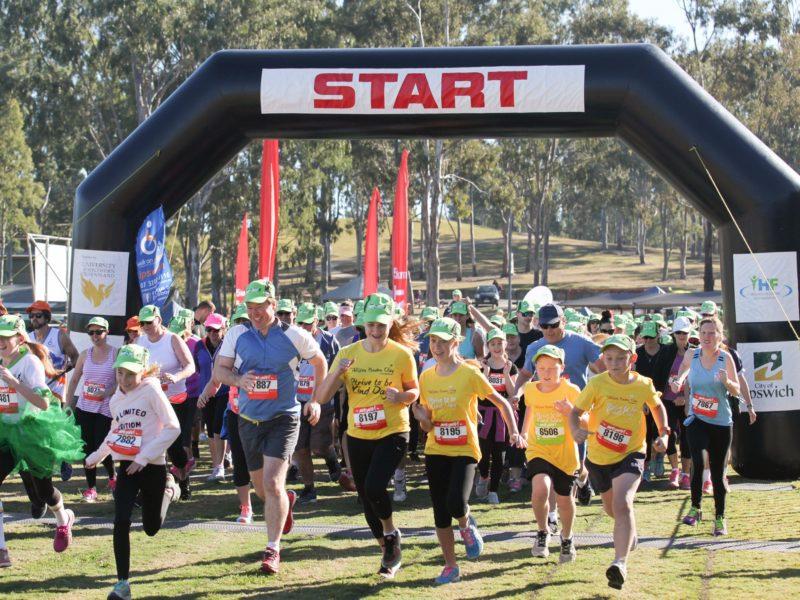 Ipswich Hospital Foundation Park2Park 2017 Start of the five kilometre Run
