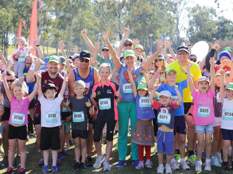 Some of the Participants of the Ipswich Hospital Park2Park 2017 Family Challenge