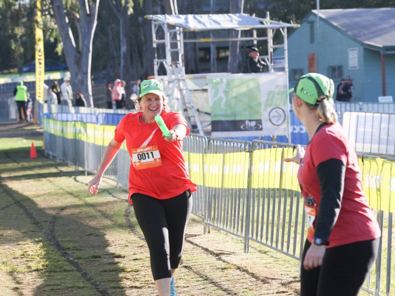 One of their Ipswich Hospital Foundation Park2Park relay teams in the half marathon relay.