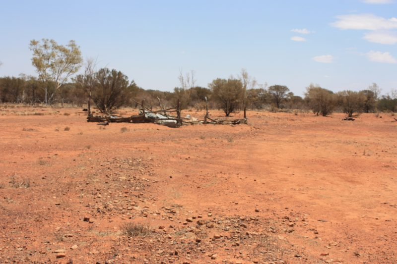 The old goat yard at the JC hotel ruins