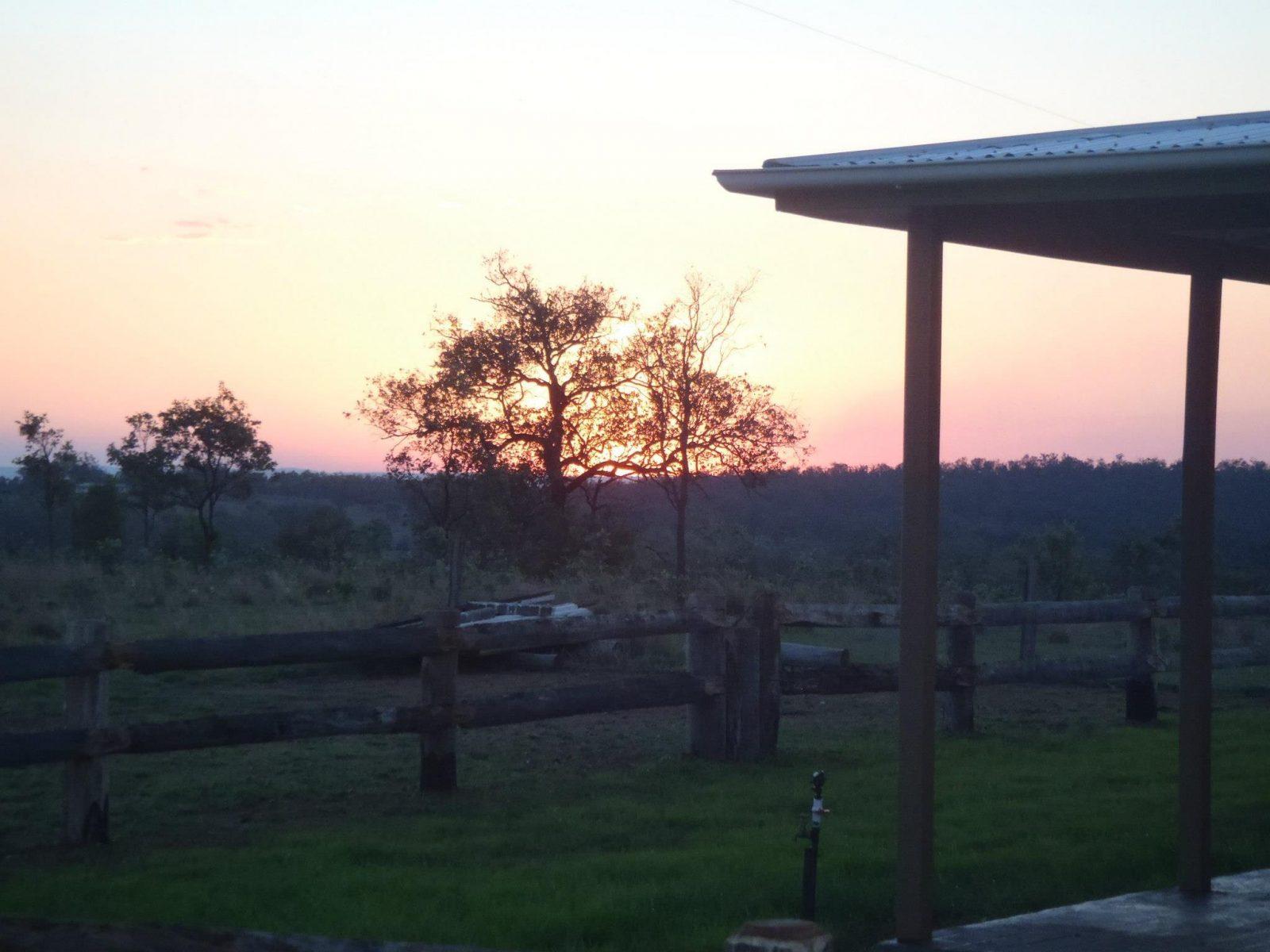 jerakala cottage sunset