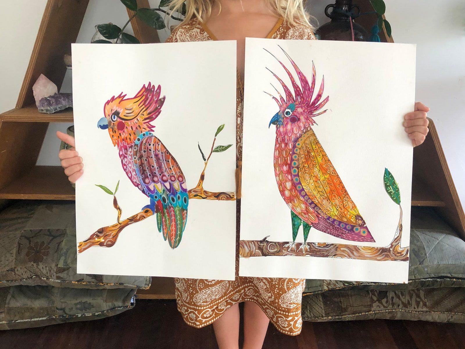Kids Cockatoo Painting School Holiday Workshop