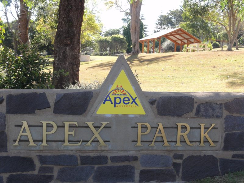 Entry into Apex Park