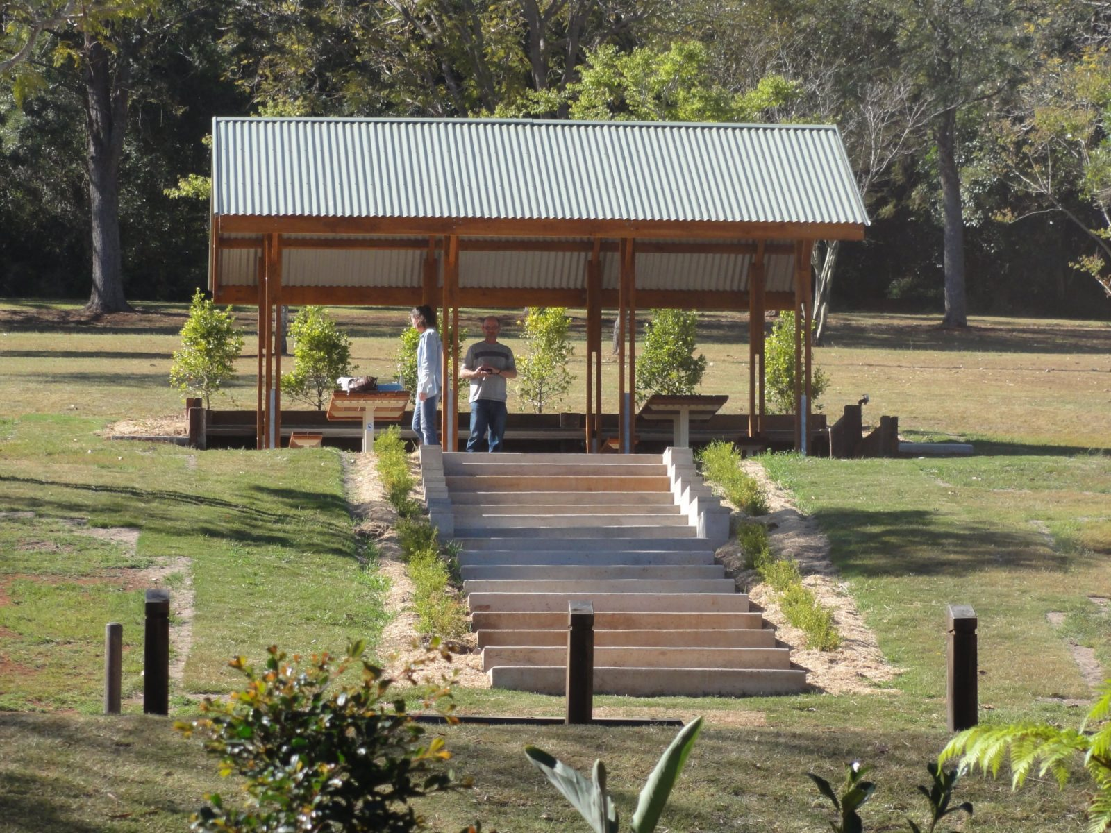 Picnic area at Apex Park