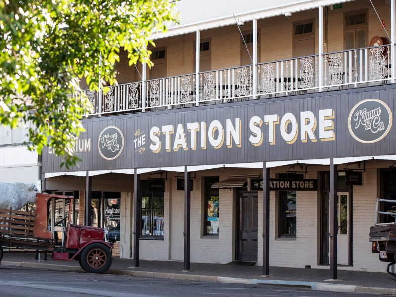 The Station Store in Longreach is open year round. Exterior image
