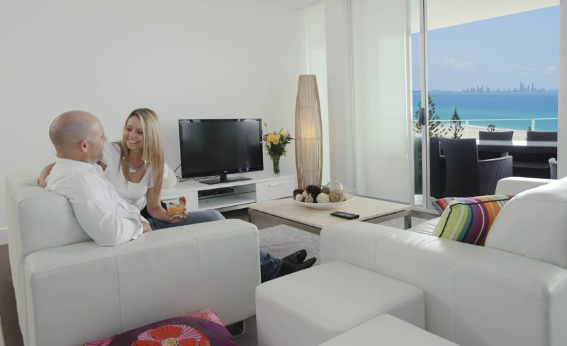 Couple in a luxury apartment