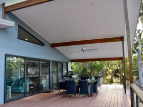 Massive verandah features alfresco dining and barbecue