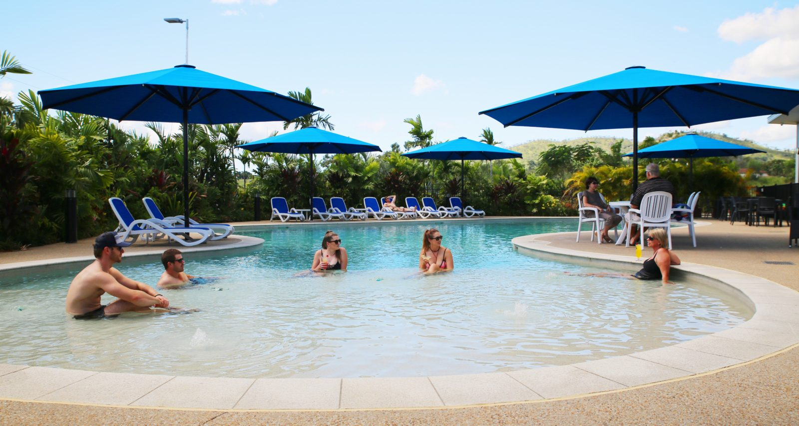 Large resort lagoon pool