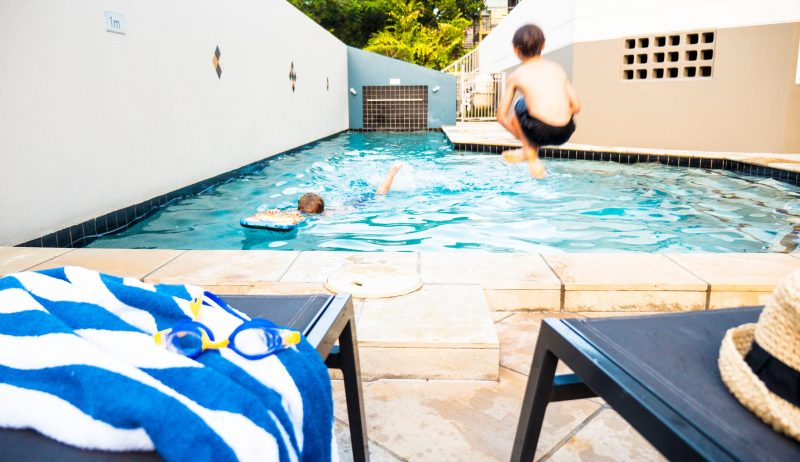 Redcliffe accommodation, pool, outdoor