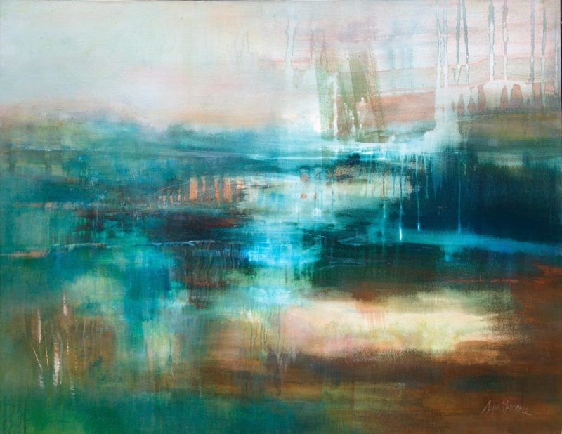 The Light from Within - acrylic painting 100 x 90 cm Lyne Marshall