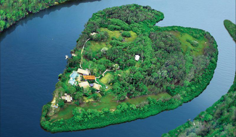 Heart shaped island retreat