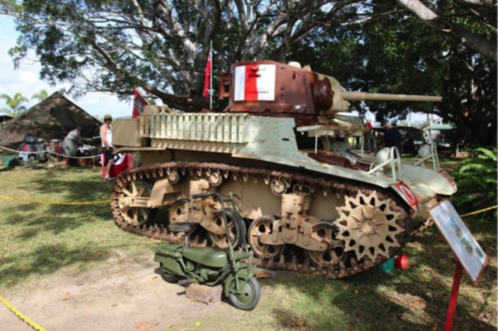 Just one of the many military vehicles that have attended the Mareeba Military Musters