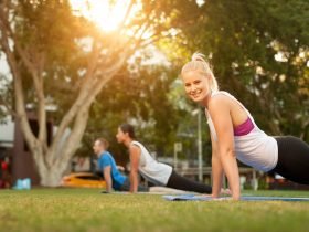 Yoga Pilates at Medibank Feel Good Program Brisbane