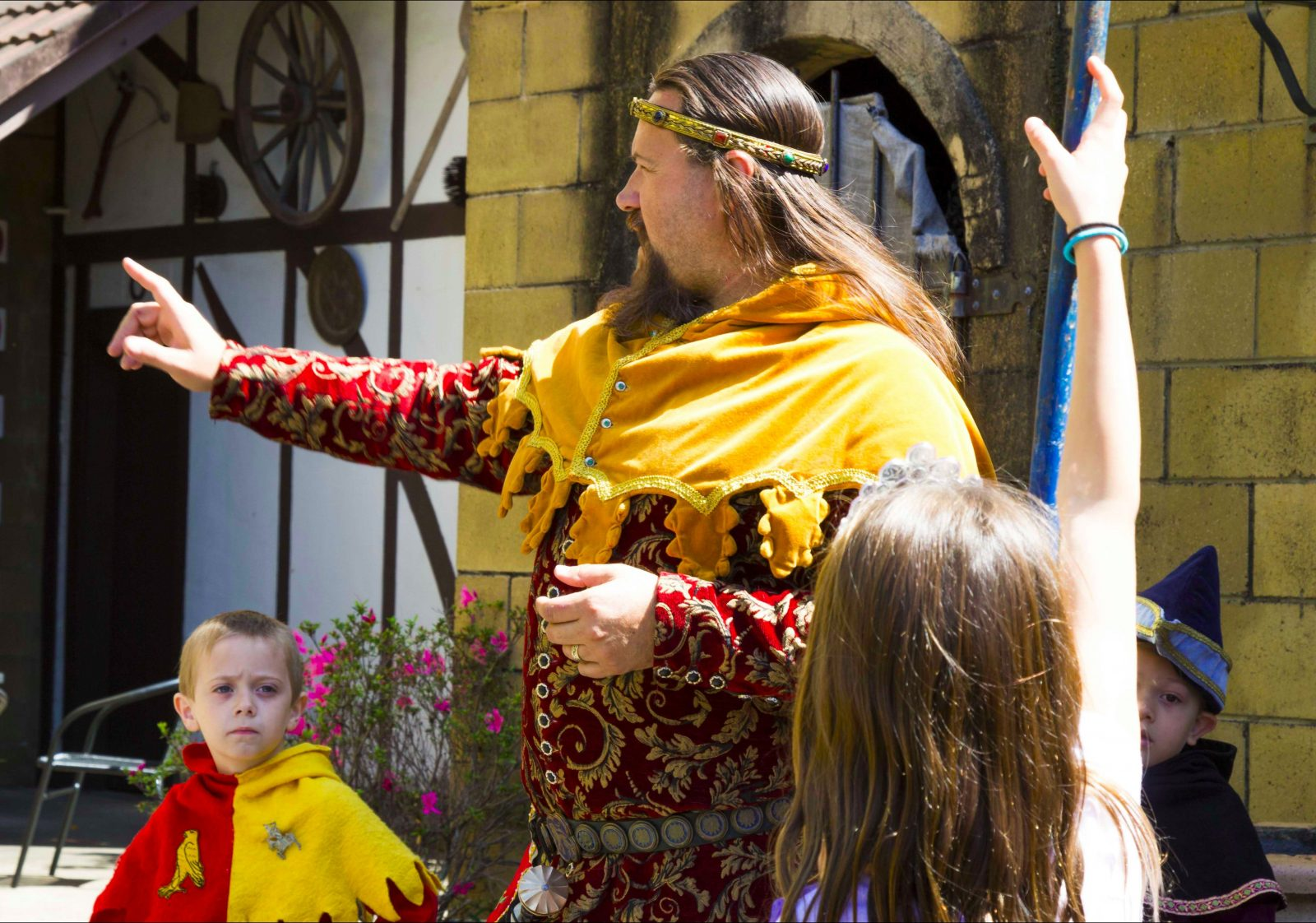 Medieval fun with Sir Justyn at the Castle