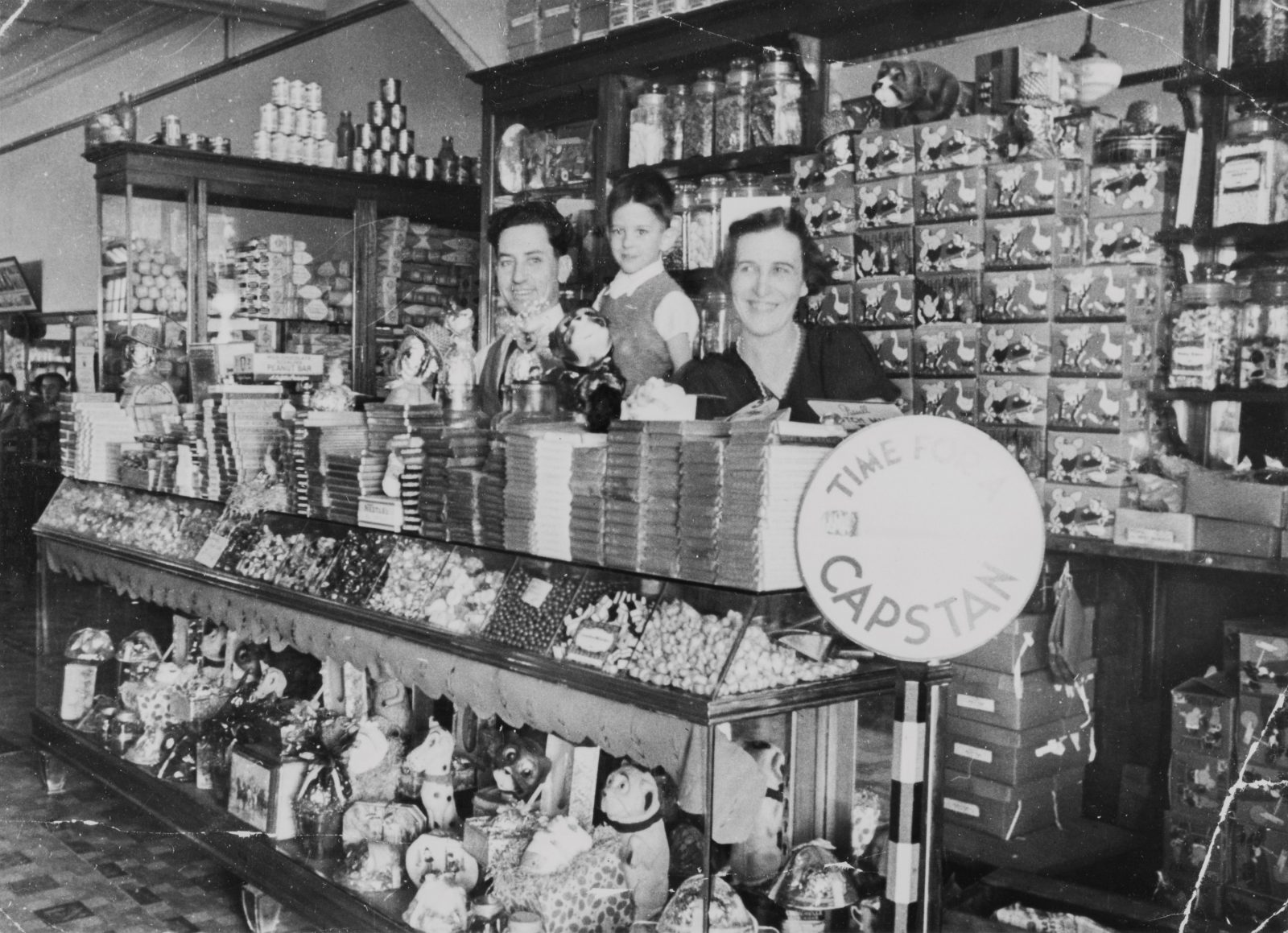 Inside the Paragon Cafe at Dalby, Queensland, ca. 1936.