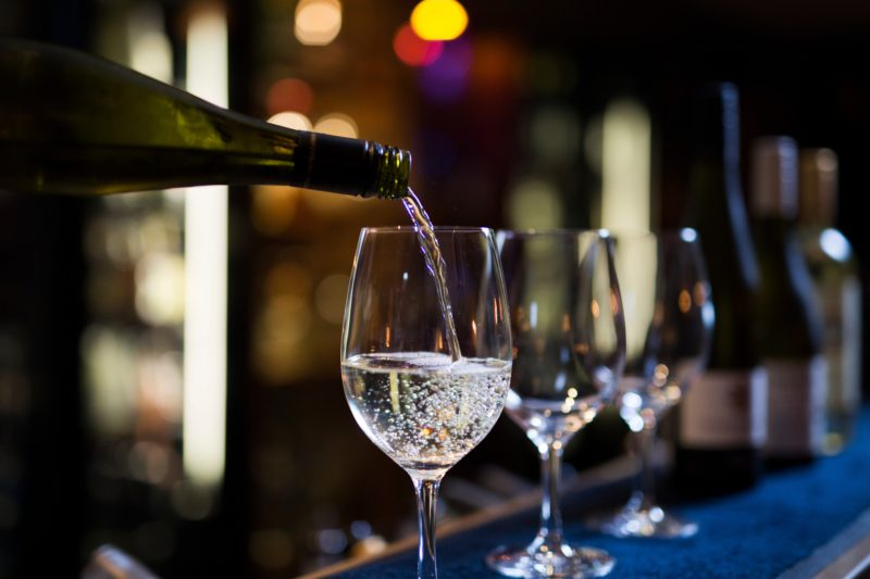 Enjoy many wines by the glass