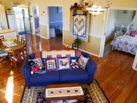 interior view Bottletree Cottage