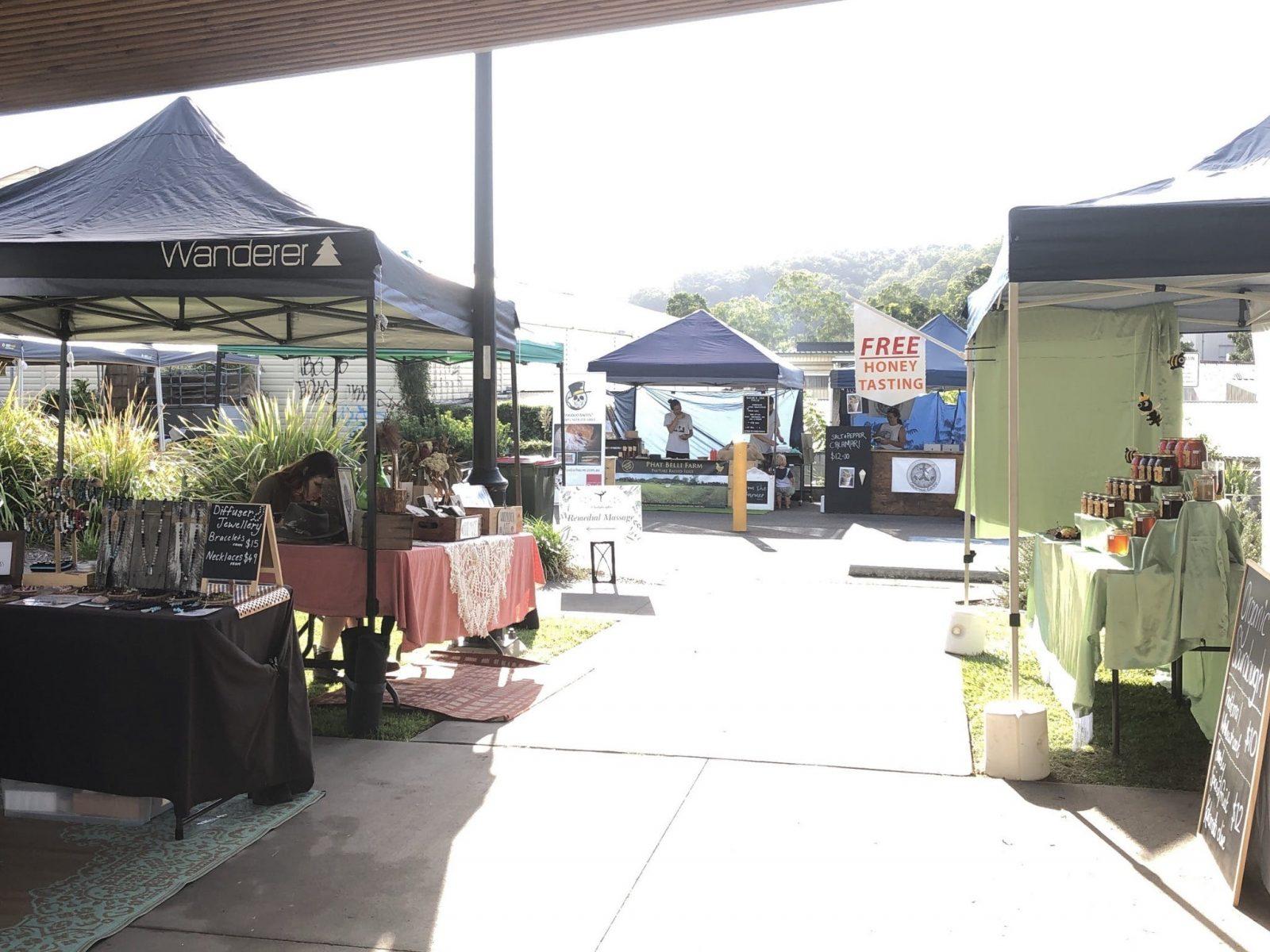 market stalls at the mill street markets
