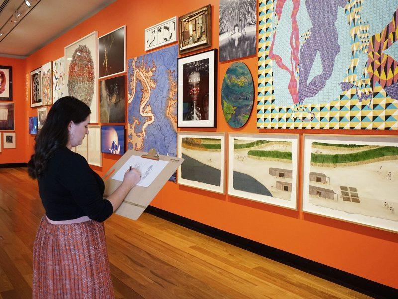 Drawing in Situ workshop at Museum of Brisbane