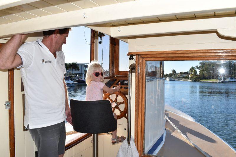 Kids Drive Boat