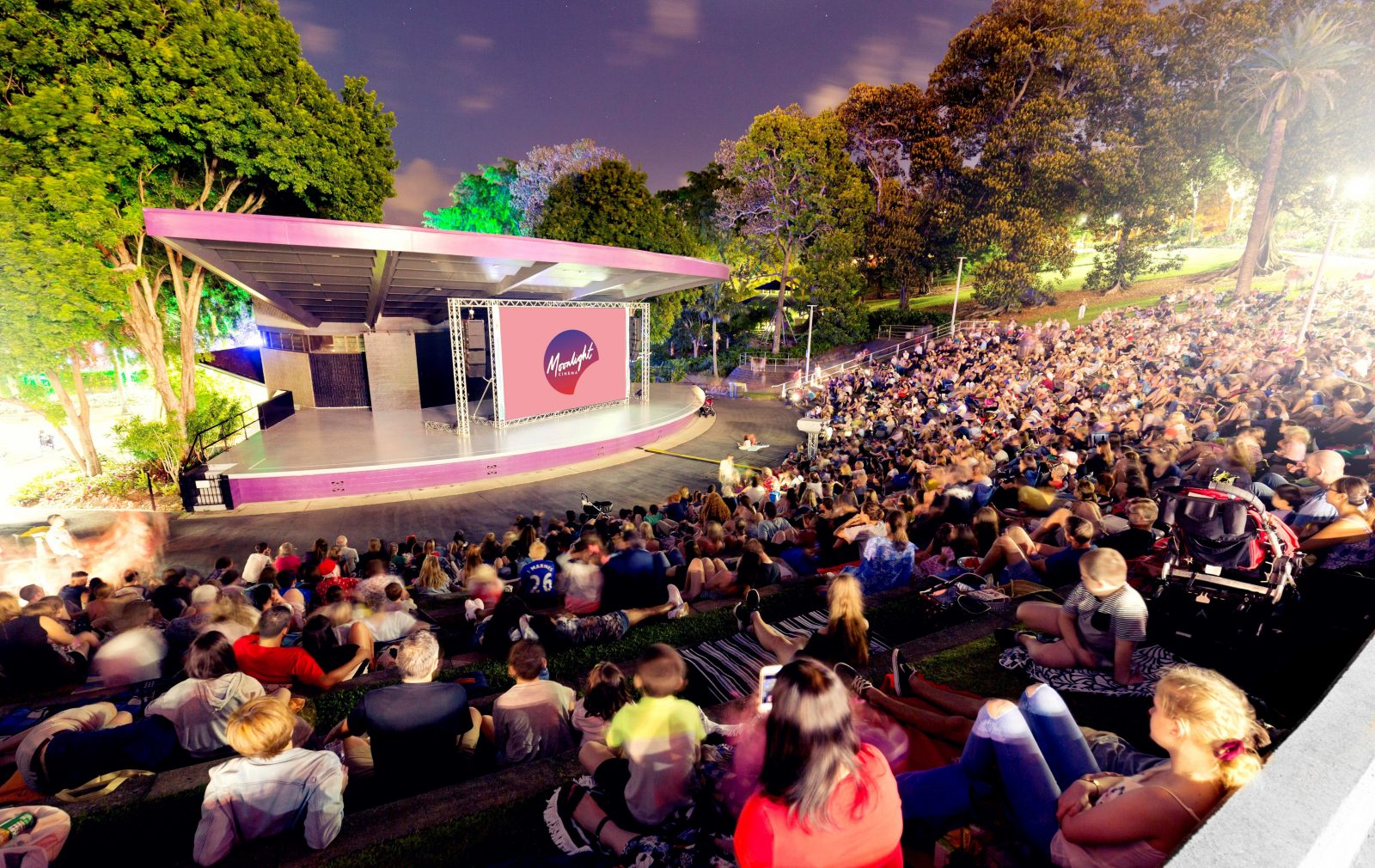 Roma Street Parkland Ampitheatre - the new home of Moonlight Brisbane.